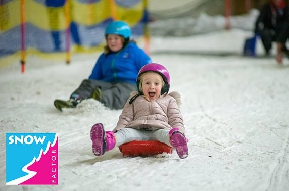 Snow Factor kids' sledging party