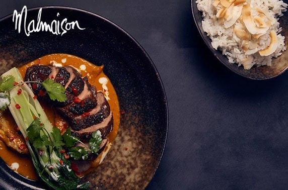 4* Malmaison Aberdeen lunch & Prosecco