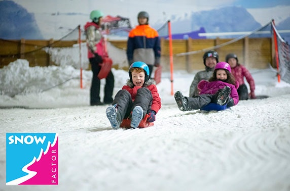 Snow Factor sledging, Braehead - from £5pp