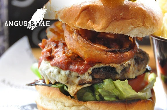 Burgers and drinks at Angus & Ale - from £6pp
