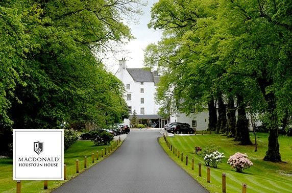 4* Macdonald Houstoun House Hotel spa day
