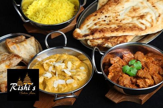Rishi's Indian dining - £6pp