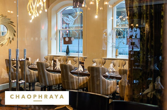 Chaophraya private Prosecco dining; choice of 3 locations