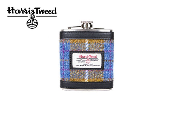 Harris Tweed 7oz hip flask