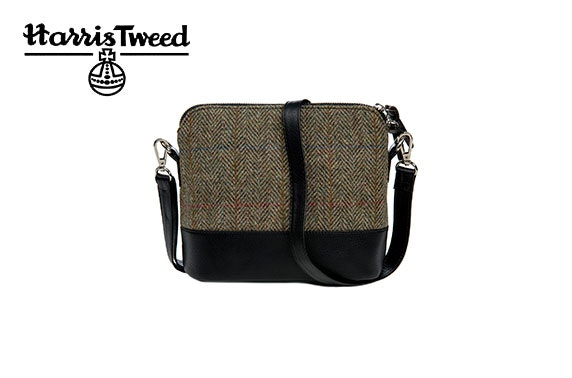 Harris Tweed square shoulder bag