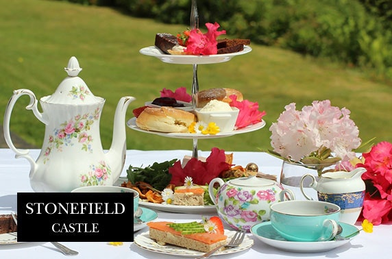 AA Rosette-awarded afternoon tea, 4* Stonefield Castle
