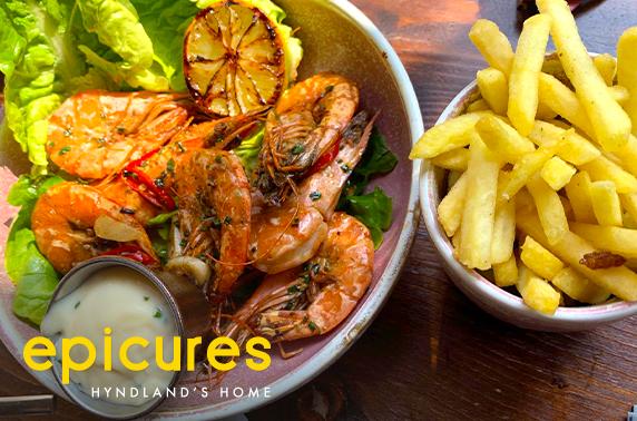 Dining at recently refurbished epicures, Hyndland