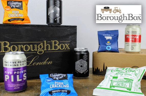 Beer & gourmet snacks box from Boroughbox