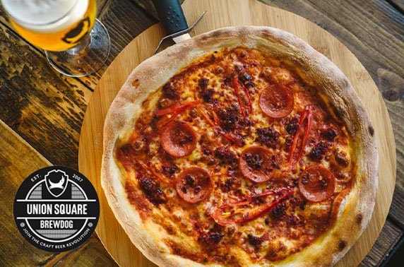 BrewDog Union Square pizza & wine or beers