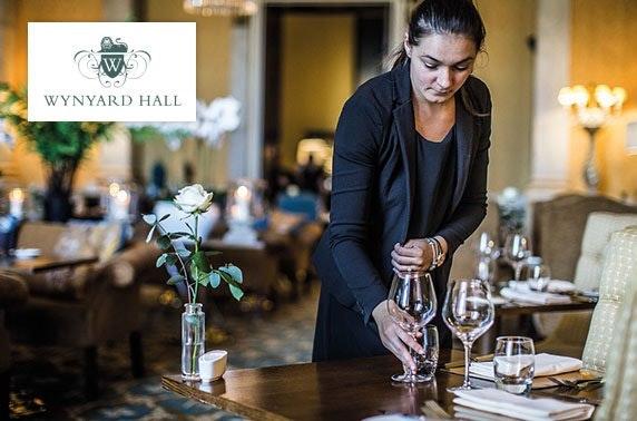 4* Wynyard Hall gentleman's afternoon tea & whisky