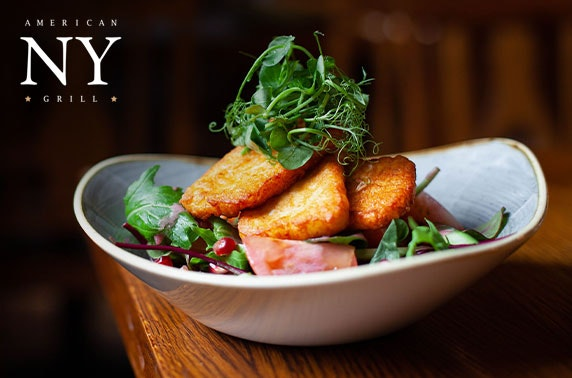 NY American Grill dining and drinks, Princes Square - from £7pp