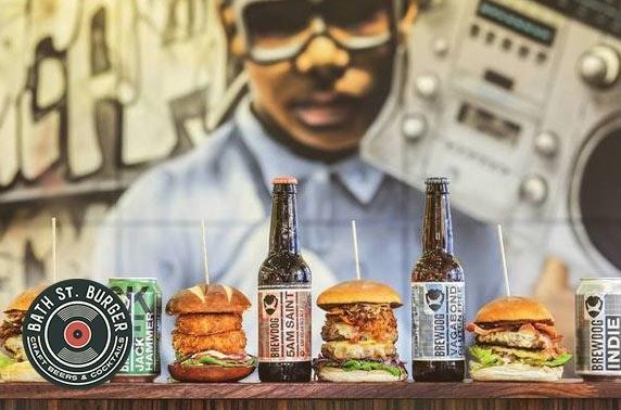 Burgers & drinks at Bath St. Burger
