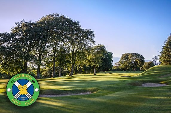 Harburn Golf Club round with bacon roll & coffee