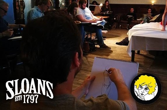 Life drawing with rugby star Sean Lamont