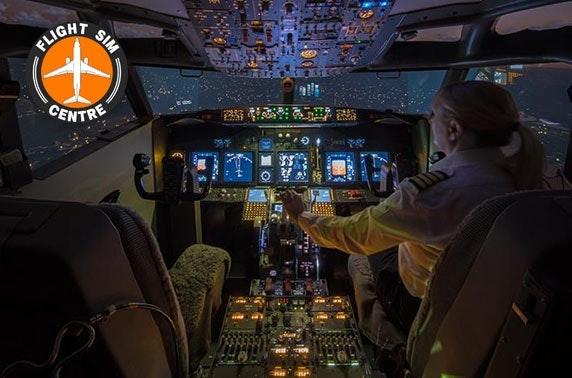 Flight simulation experience – choice of 3 planes
