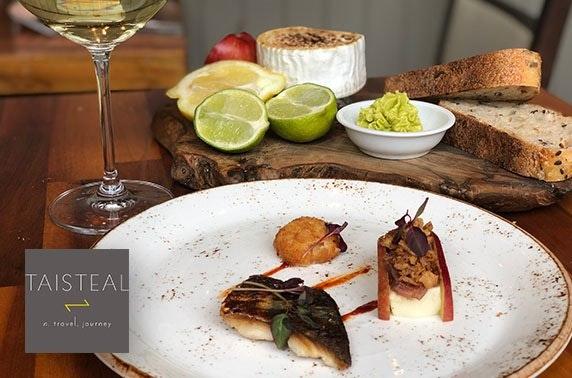 Fine dining at AA Rosette Taisteal, Stockbridge