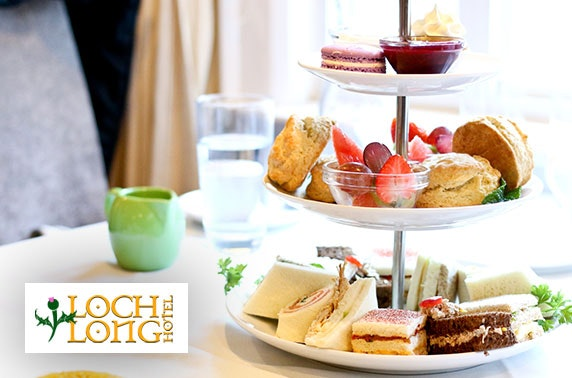 Loch Long Hotel sparkling afternoon tea