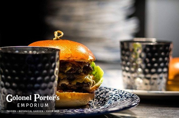Colonel Porter's Emporium burgers or afternoon tea