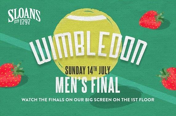 Wimbledon men's final at Sloans