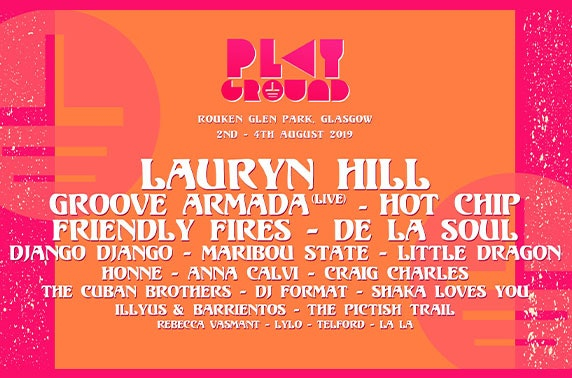 FINAL TIX: Playground Festival, Rouken Glen Park