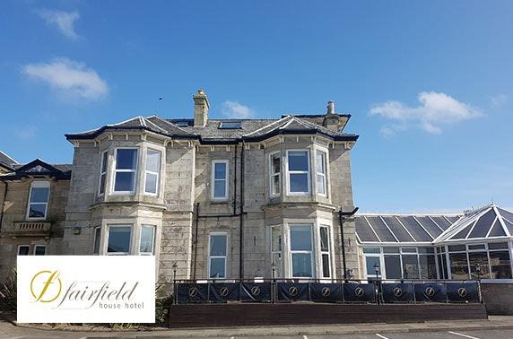 4* Fairfield House Hotel DBB - £99