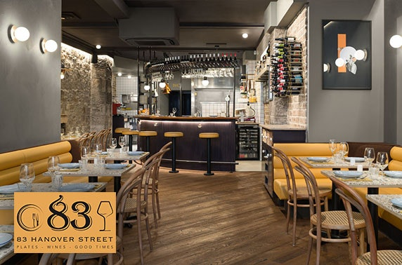 83 Hanover Street food & drinks voucher