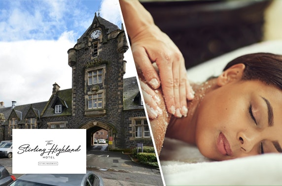 4* Stirling Highland Hotel DBB & spa break