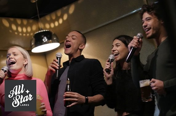 Private karaoke & Prosecco at All Star Lanes