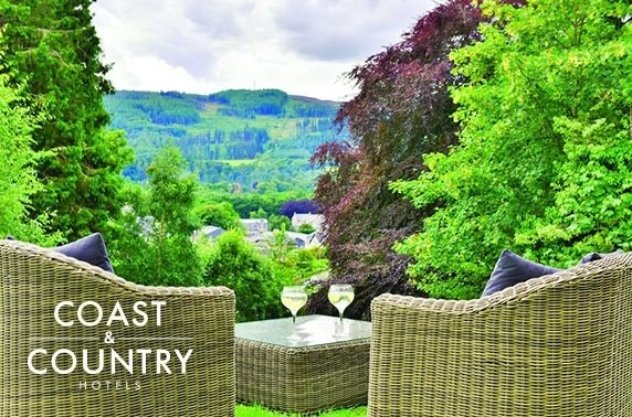 The Pitlochry Hydro stay & Prosecco