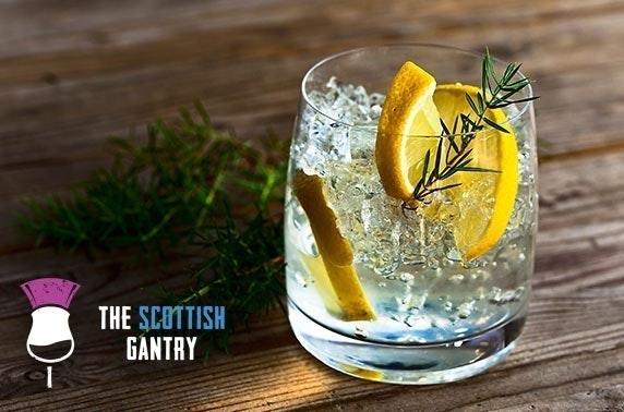 The Scottish Gantry gin tasting at the Edinburgh Fringe