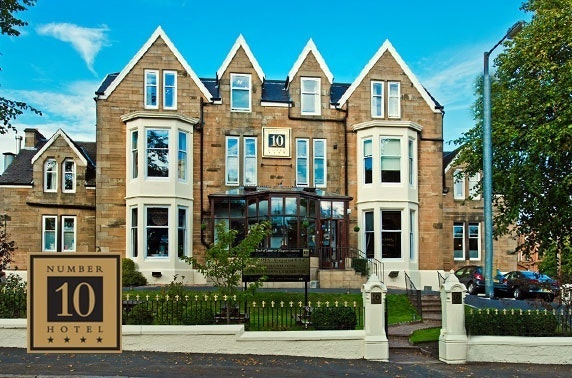2 courses or afternoon tea at 4* Number 10 Hotel, Southside