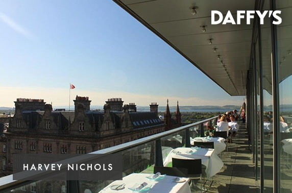 Harvey Nichols luxury Daffy's gin afternoon tea