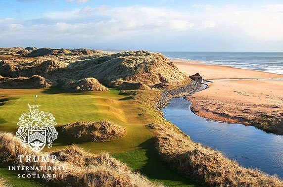 Round of golf at Trump International, Scotland