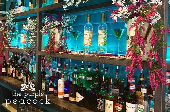 Brand new Purple Peacock afternoon tea & drinks