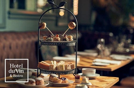 Hotel du Vin Prosecco afternoon tea