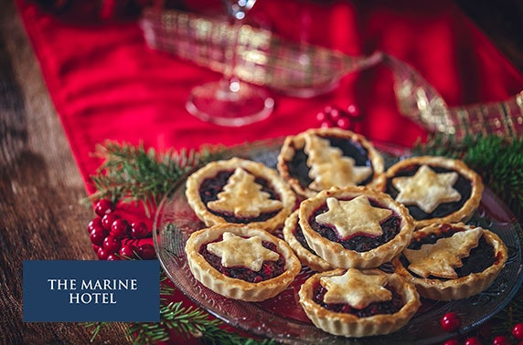 4* Marine Troon Hotel festive afternoon tea & cocktails