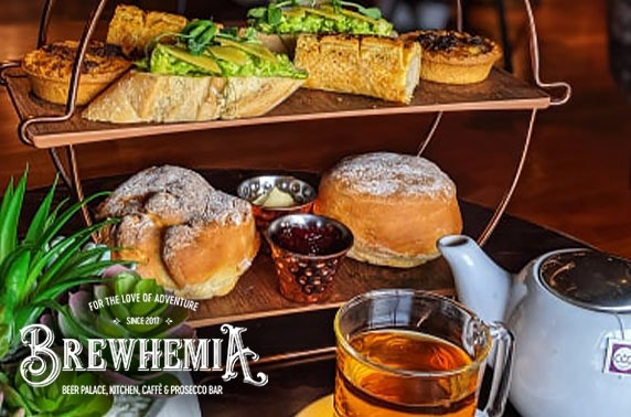 Gentleman's afternoon tea at Brewhemia