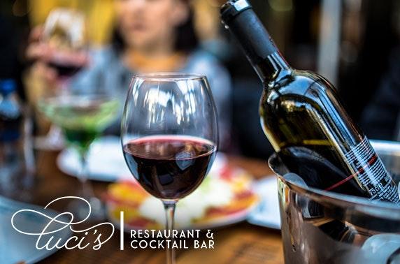 Italian sharing platter & wine
