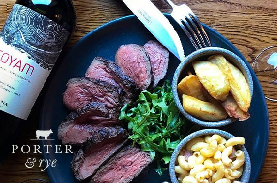 Steak & wine experience, Porter & Rye