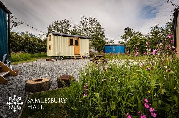 Samlesbury Hall shepherd hut getaway