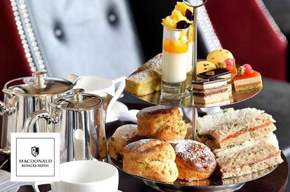 Macdonald Rusacks Hotel cream or afternoon tea