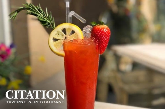Citation drinks & nibbles – valid 7 days