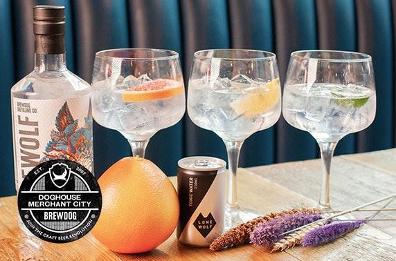 BrewDog gin flights & sharing platters, Merchant City
