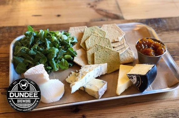 BrewDog Dundee gin flights & cheeseboard