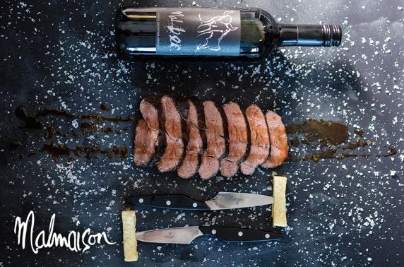 4* Malmaison Glasgow chateaubriand & drinks