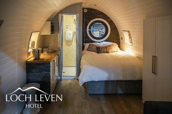 Luxury pod stay at Loch Leven Hotel