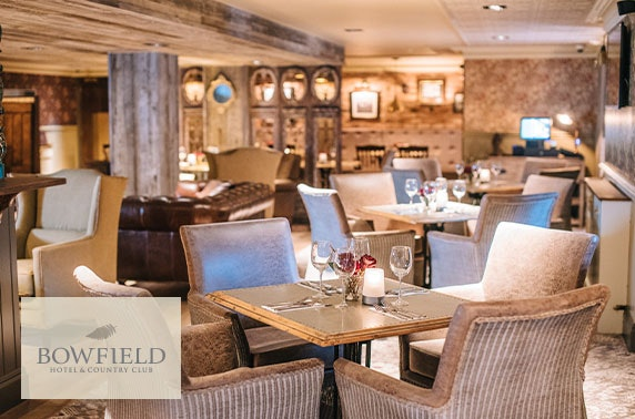 Bowfield Hotel group spa day & dinner