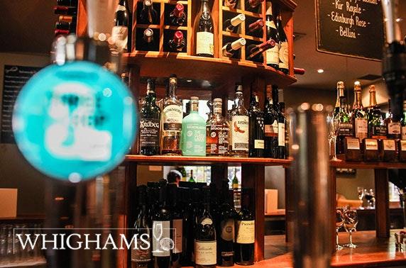 Whighams Wine Cellars voucher spend