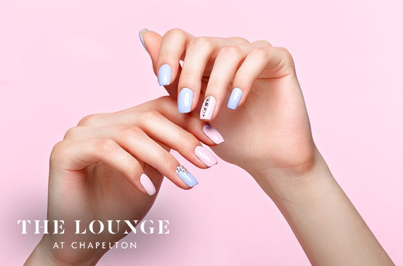 The Lounge mani, pedi or lash lift
