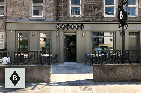Burgers & cocktails at Basils, Edinburgh